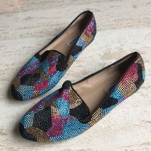 Steve Madden Conncord Rhinestone Loafers Size 9.5